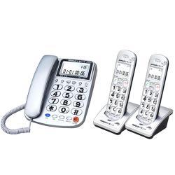 ◎助聽電話18dB音量|◎手機三組SOS緊急求救電話|◎2.4GHz長距離子母機商品名稱:台灣三洋SANLUXDCT-8917-22.4GHz長距離子母機品牌:SANLUX台灣三洋型號:DCT-891