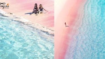 少女心之旅出發!與粉紅沙灘來一個合影,印尼少女必去兩大超美粉紅沙灘