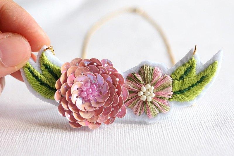 浪漫系﹣莫內蓮花手工刺繡項鍊.可客製化