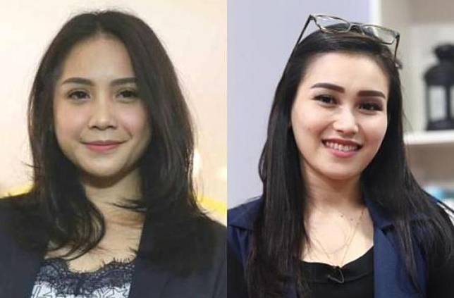 Nagita Slavina dan Ayu Ting Ting. (Suara.com)
