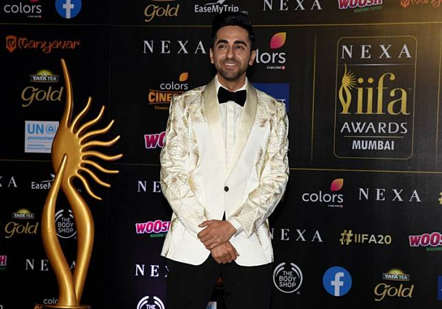 Bollywood actor Ayushmann Khurrana arrives for the 20th International Indian Film Academy (IIFA) Awards at the NSCI Dome in Mumbai on September 18, 2019.
