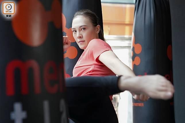 Kickboxing健身教練Charlene Houghton(何慈茵)(張群生攝)