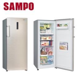 ◎自動除霜設計 ◎多重出風冷流 ◎滑軌式抽屜 取拿省力商品名稱:SAMPO聲寶205L直立無霜冷凍櫃SRF-210F品牌:SAMPO聲寶種類:冷凍櫃型號:SRF-210F尺寸:595(寛)*1475(
