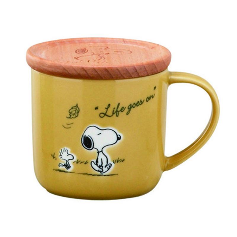 《Snoopy》馬克杯-落葉(附木蓋)