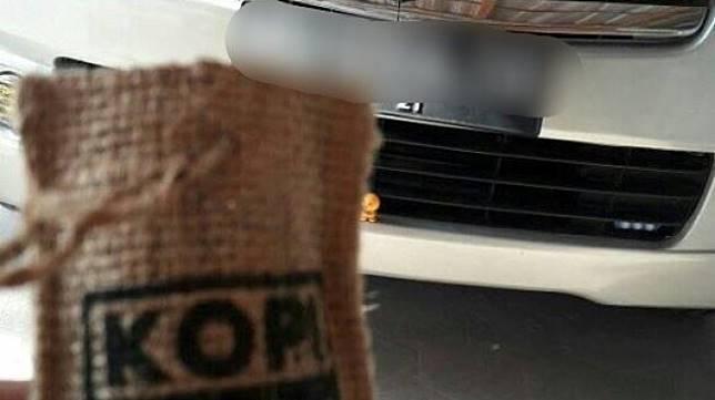Viral warganet tertipu kantung kopi pengharum mobil. (Facebook/Ahmad Efendi)