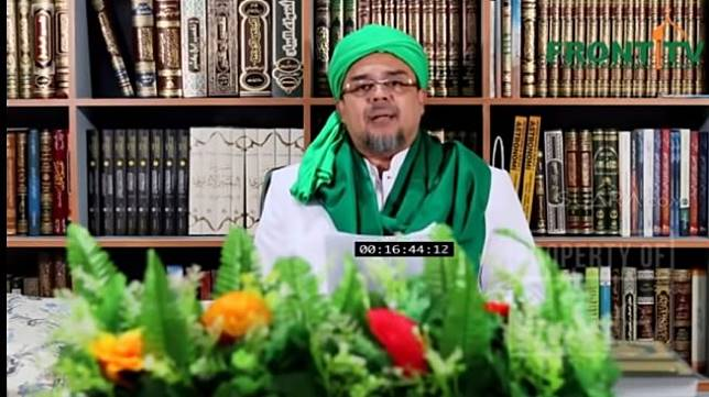 Pimpinan Front Pembela Islam atau FPI Rizieq Shihab