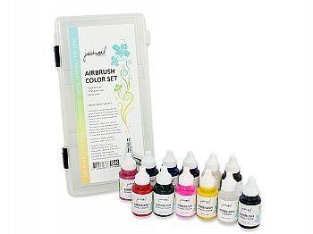 噴槍顏料套組-純色 12入 n採用水溶性壓克力成分,以確保顏色從液狀到乾燥後都能維持相同,不會變色