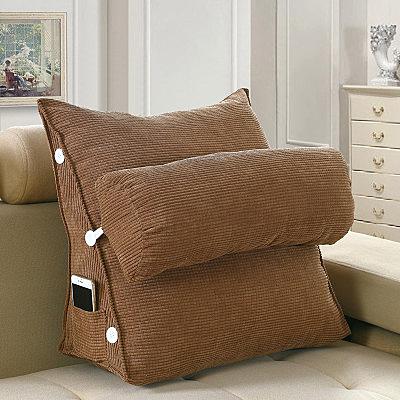 宿舍床上看書電視護腰靠墊靠背臥室學生單人三角靠枕床頭三角枕頭
