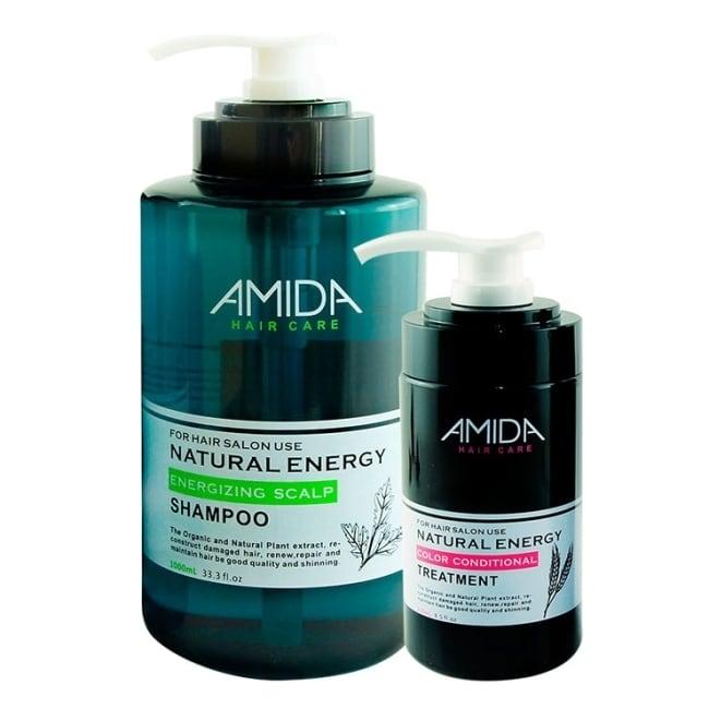 Amida蜜拉 平衡去脂洗護組(平衡去脂洗髮精1000ML+角質蛋白護髮素250ML)