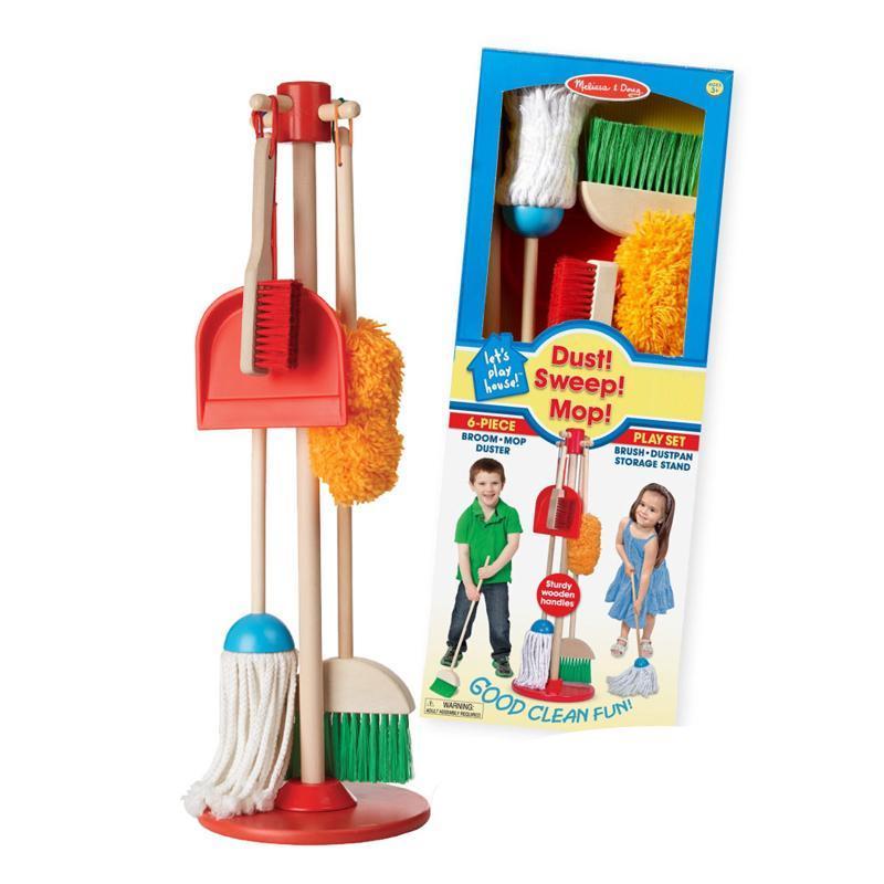 讓孩子們愛不釋手的打掃工具 ◎ 【美國瑪莉莎 Melissa & Doug】角色扮演 - 幼兒掃地清潔工具組 小巧工具動手操作,體驗做中學樂趣! 孩子小時候最喜歡模擬大人的動作,特別是媽媽在掃地時,常