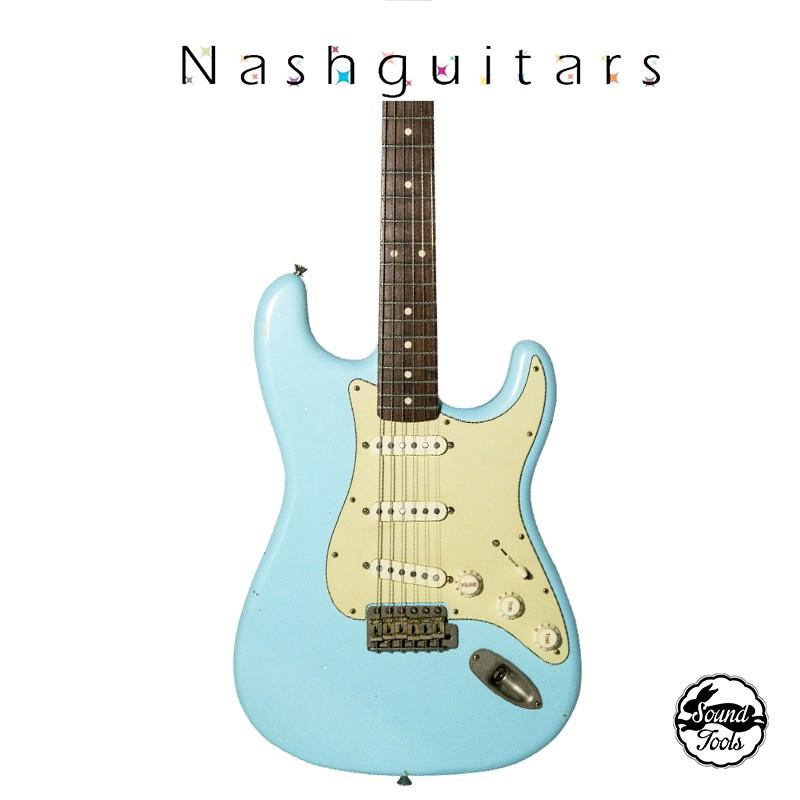 Nashguitars S63 Sonic Blue /客製仿舊吉他 輕度仿古 Light / 玫瑰木指板【桑兔】
