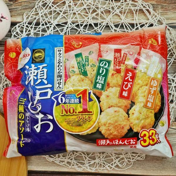 海苔鹽、柚子鹽、蝦子風味卡滋酥脆日式揚仙貝大包家庭裝一次滿足