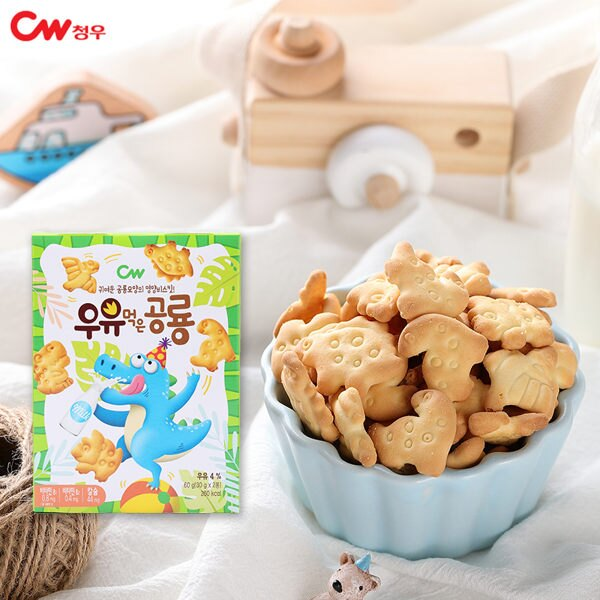 韓國 CW恐龍造型餅乾 60g【庫奇小舖】。人氣店家庫奇小舖的有最棒的商品。快到日本NO.1的Rakuten樂天市場的安全環境中盡情網路購物,使用樂天信用卡選購優惠更划算!