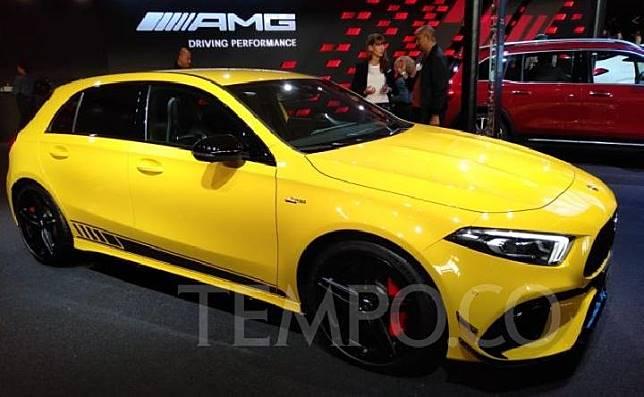 Mercedes-Benz memperkenalkan andalan barunya di kelas AMG, Merceds-AMG A45 S 4Matic+, dalam ajang Frankfurt Motor Show 2019. 10 September 2019. TEMPO/Ali Nur Yasin