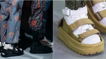 你還在襪子配涼鞋?時裝週上竟出現「球鞋配涼鞋」最潮穿搭 網友:滿滿黑人問號