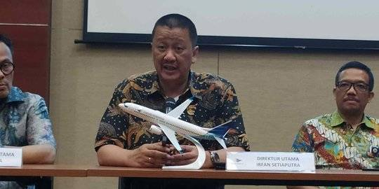Direktur Utama Garuda Indonesia, Irfan Setiaputra. ©2020 Liputan6.com/Tira Santia