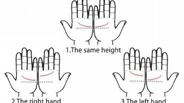 你兩隻手掌的感情線高低落差 透露出你的戀愛傾向!