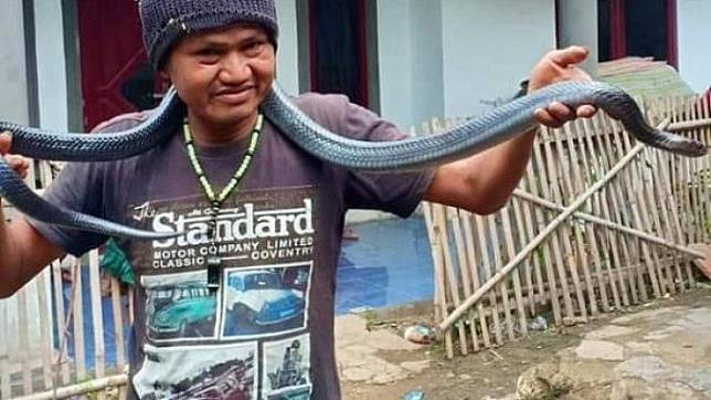 Jana, warga Kutawaringin, Kabupaten Bandung, tewas dililit ular