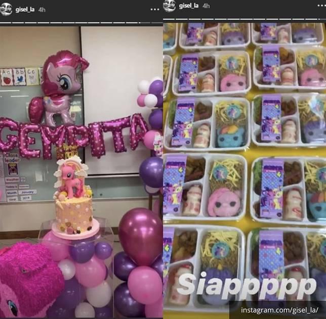 Pesta ulang tahun Gempi yang serba kuda poni