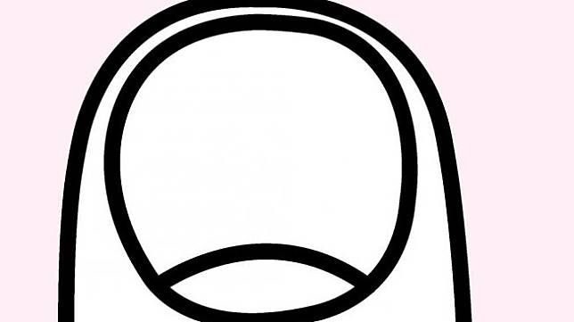 Bentuk kuku pendek, bulat (rounded). (Shutterstock)