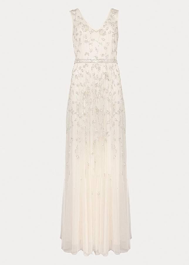 Millicent珠飾刺繡禮服(互聯網)