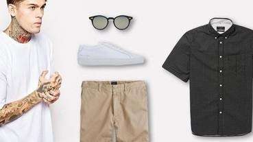 白 T、短褲、墨鏡...夏日型男必備 5 項單品 你的衣櫃有幾樣了?