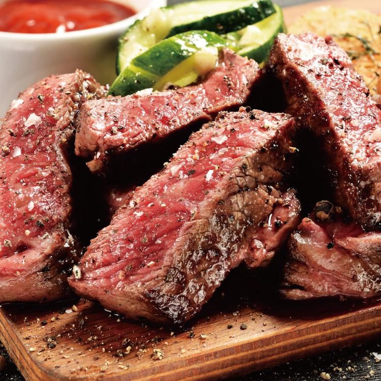 美國安格斯雪花沙朗牛排~超厚切4片組(450公克/1片)