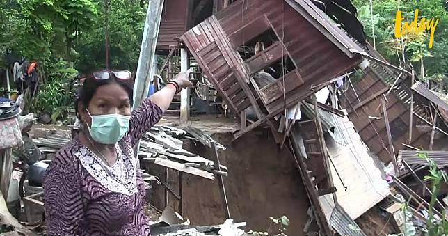 ชาวบ้านร้องชลประทาน ดินสไลด์ทำบ้านริมตลิ่งทรุดเสียหายหนัก หลังน้ำป่าสักไหลท่วม