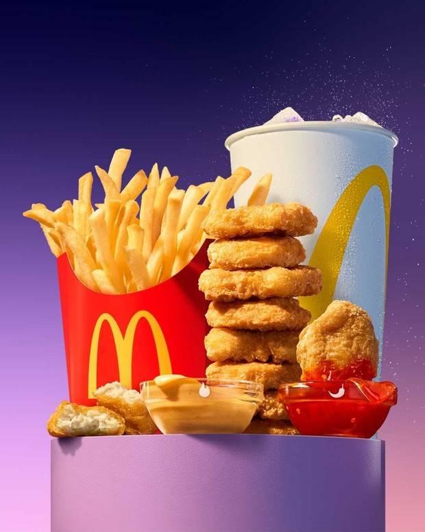 BTS Meal mengandung kalori total 1130/instagram.com/mcdonalds