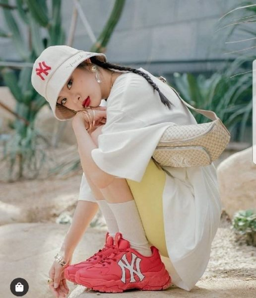 KUMO SHOES-韓國代購??MLB 腰包 滿版 NY 小logo 帽子 包包 gucci聯名款