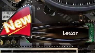 Lexar 展示新款 PCIe 4.0 x4 SSD 開發樣品,讀寫速度突破 7GB/s 和 4GB/s!