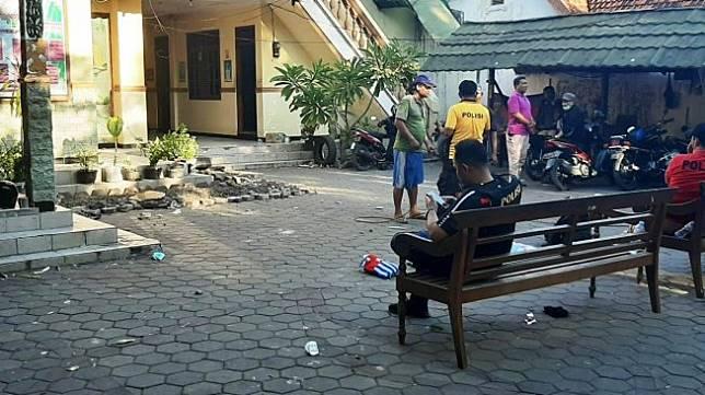Kondisi Asrama Mahasiswa Papua usai para mahasiswa dibawa ke Maporestabes Surabaya. (Jatimnet)