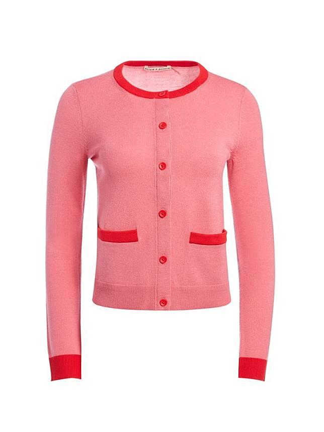 alice + olivia紅色褶針織開胸外套(互聯網)