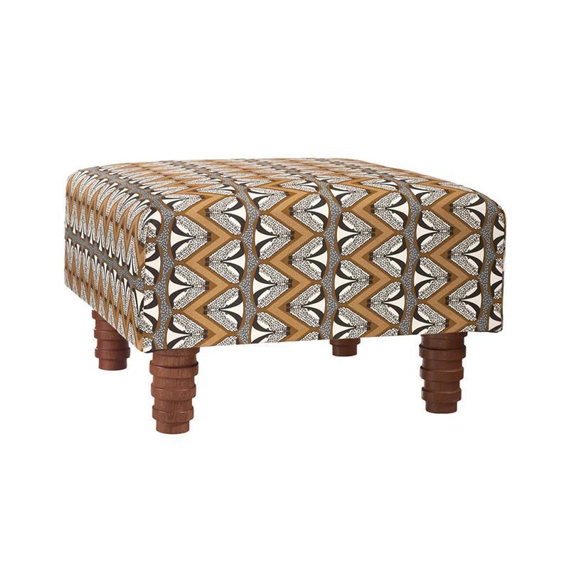 蘇格蘭蜜獾跳舞方型椅凳 - 大地色