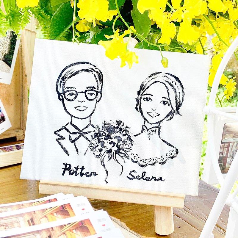 ISA手繪的客製婚禮肖像或是情侶紀念禮物都很適合喔!