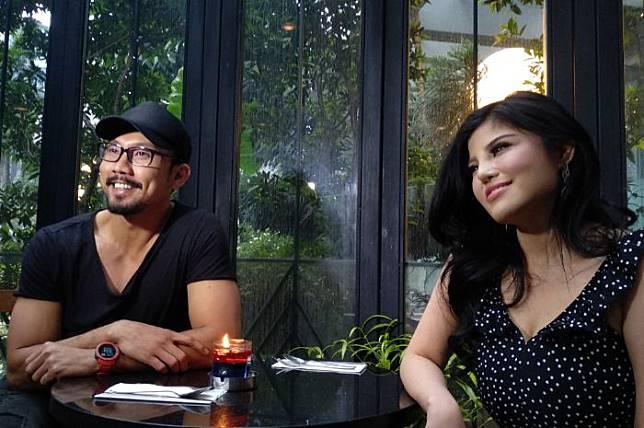 Dita Soedarjo dan Denny Sumargo saat ditemui di Rock Paper Scissors, Kuningan, Jakarta Selatan
