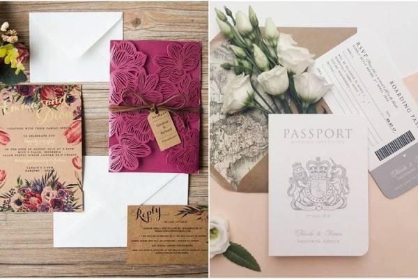 Inilah 12 Desain Undangan Pernikahan Unik, ala Paspor Juga Ada!