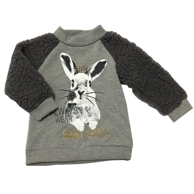 正韓貨 可愛兔兔兒童上衣 抗寒必備 尺碼:5,適合2-3歲小女生小男生穿