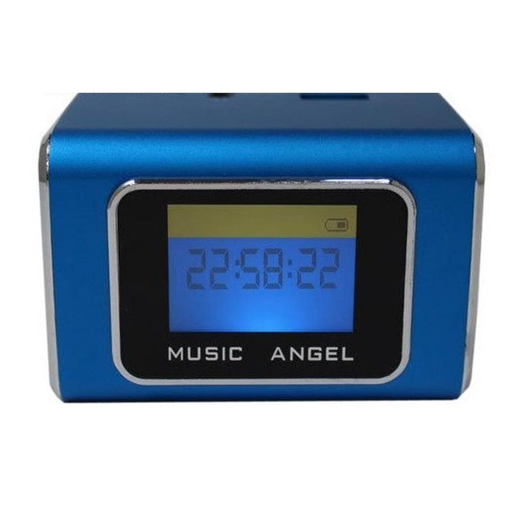 音樂天使MD-05X 藍色 含繁體中文字幕鋁合金音箱喇叭撥放器優雅的線條演繹具有時尚外型和便簡設計可在喇叭本體後方雙插槽使用TF記憶卡與USB隨身碟當MP3記憶體使用TF記憶卡與USB隨身碟插上後,喇