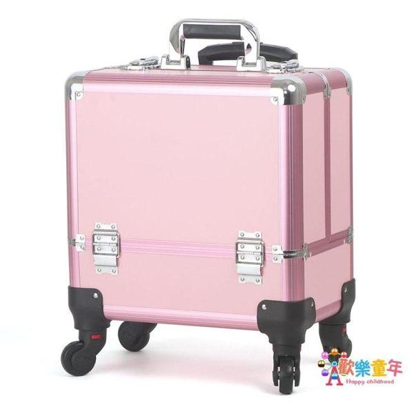 化妝拉杆箱 鋁合金專業拉桿化妝箱大容量可手提紋繡工具箱半永久彩妝箱萬向輪 2色T
