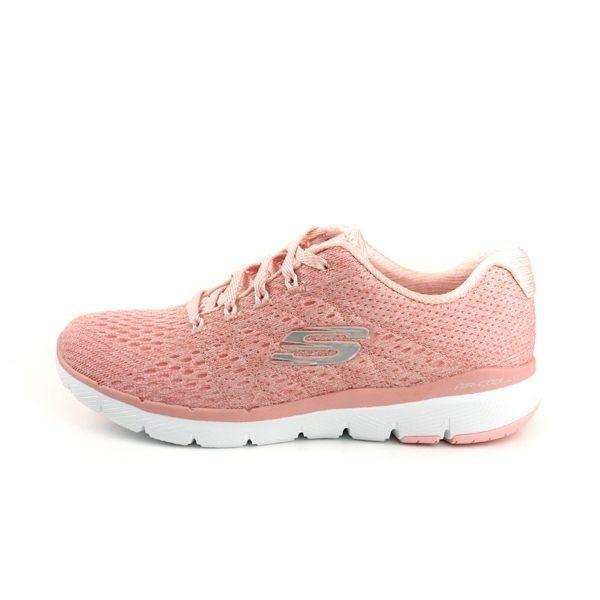 SKECHERS 運動鞋針織女鞋粉紅色 No.13064ROS