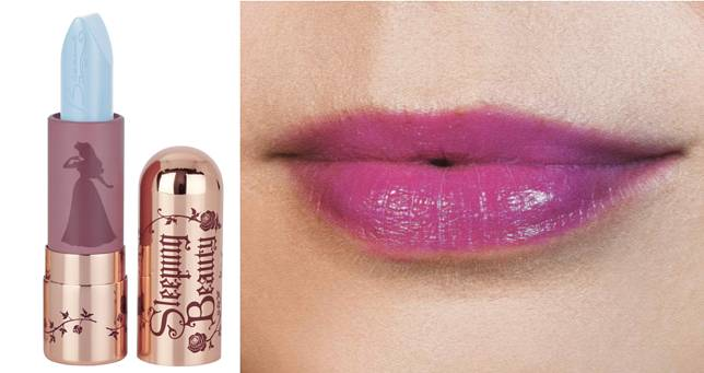 Make It Blue Make It Pink唇膏($192),淺藍色塗上咀後會變紫紅色。