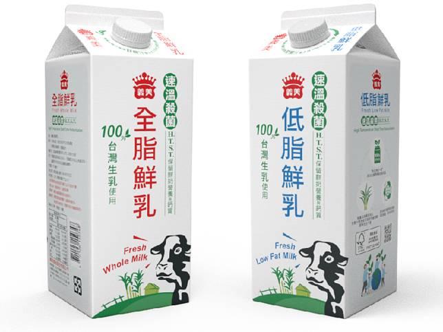 義美全脂與低脂鮮乳是亞太區第一批採用生質利樂皇紙盒的乳品。(圖片來源:利樂包裝提供)