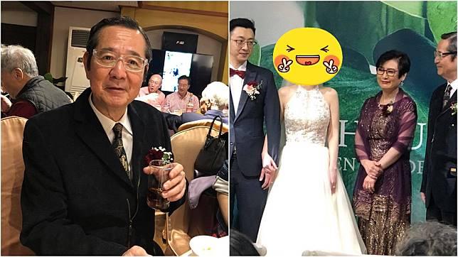 65歲資深藝人巴戈嫁女兒。圖/翻攝自向娃臉書