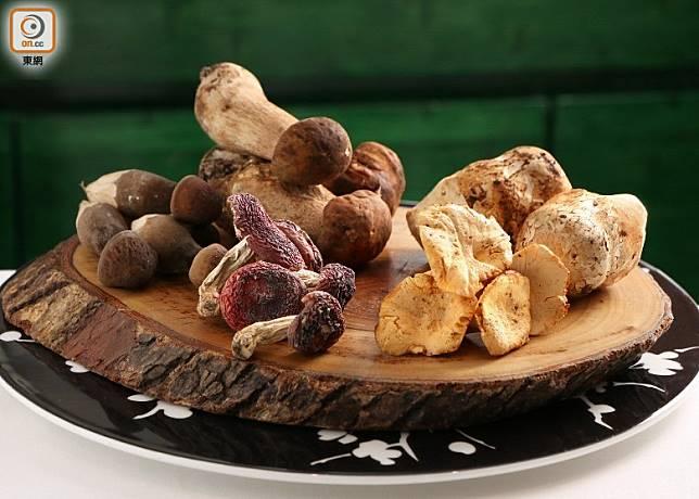菇菌蘊含蛋白質、多種維他命、水溶性纖維等豐富營養,加上散發獨特香氣,是有益又百搭的食材。(盧展程攝)