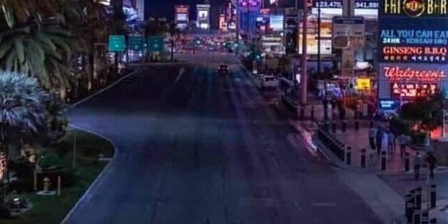 Jalanan di Las Vegas (XInhua.net)