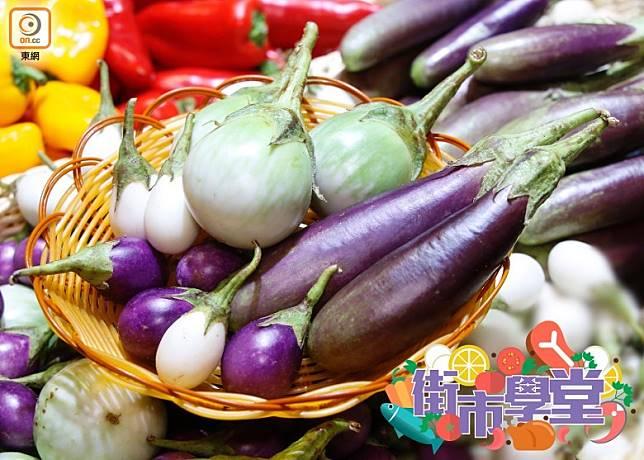 來自泰國的迷你茄子,有不少款式。(郭凱敏攝)