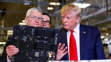 庫克攜川普視察德州 Mac Pro 工廠,並宣佈 10 億美元造園計畫