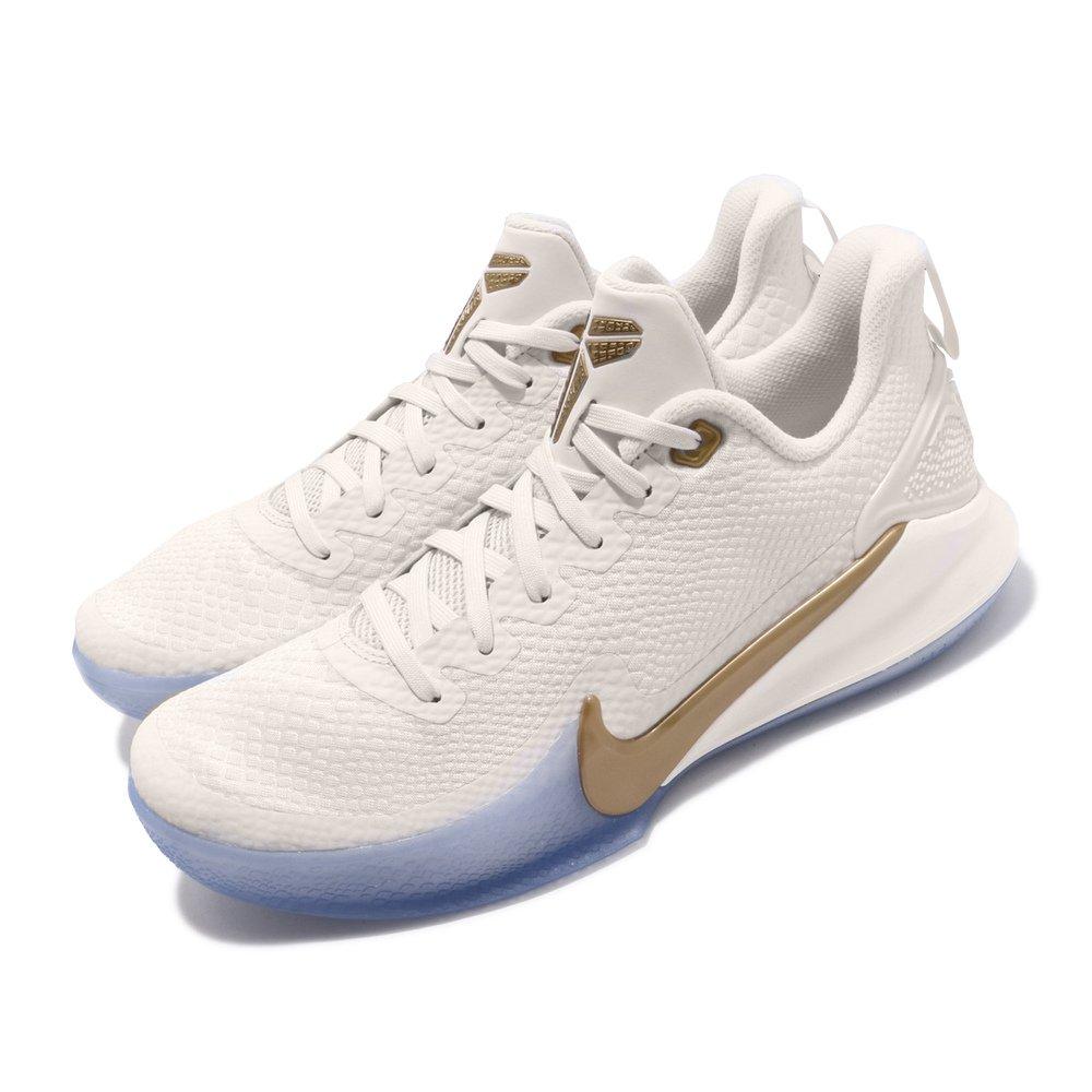專業籃球鞋品牌:NIKE型號:AO4434-004品名:Mamba Focus配色:米白色,金色
