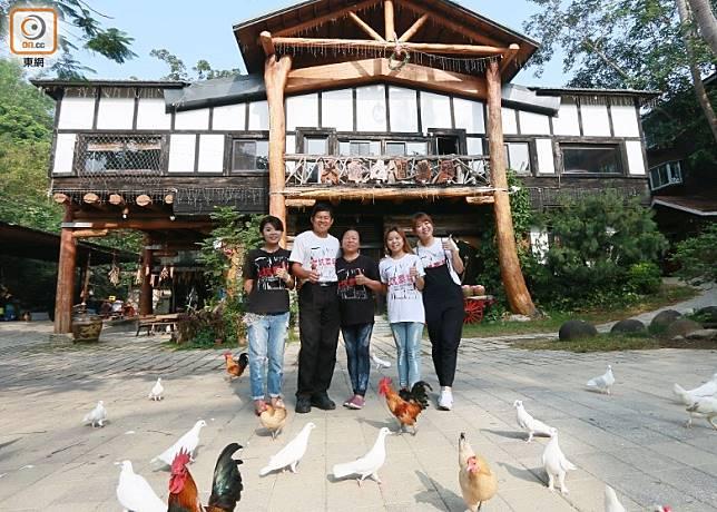 大坑休閒農場由蔡爸爸一家三代同堂全情投入打理,勁有Happy Family的溫馨感覺。(劉達衡攝)